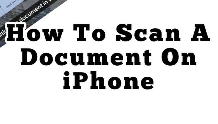 how to scan a document on iphone