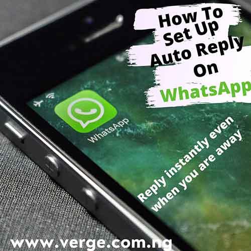 WhatsApp Auto reply set up